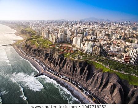 Park lima Peru luchtfoto strand Stockfoto © pxhidalgo
