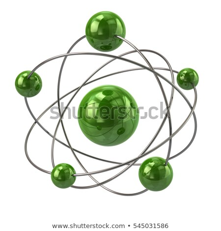 green molecule isolated stock photo © jezper
