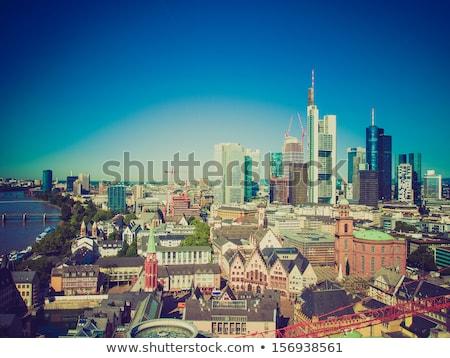 panorama · Frankfurt · hoofd- · Duitsland · kantoor - stockfoto © claudiodivizia