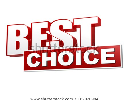 best choice in red white banner - letters and block Stock photo © marinini