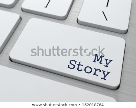Fehér billentyűzet enyém történet gomb modern Stock fotó © tashatuvango