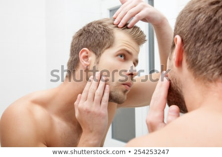un shaved young beauty man Stock photo © feedough