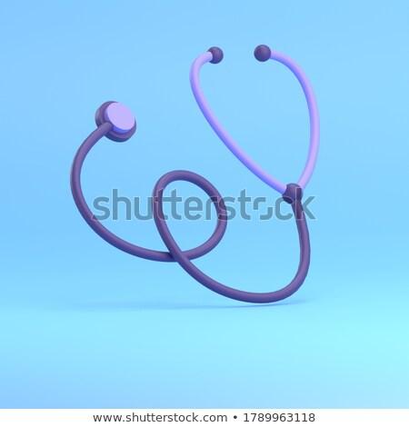 3D · doktor · stetoskop · aşı · yararlı · sevinç - stok fotoğraf © karelin721