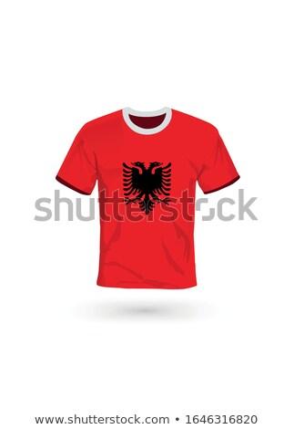 Bandeira Albânia futebol equipe país Foto stock © MikhailMishchenko