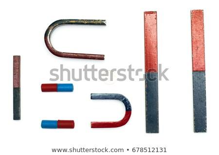 mavi · kırmızı · mıknatıs · yalıtılmış · vermek · beyaz - stok fotoğraf © cherezoff