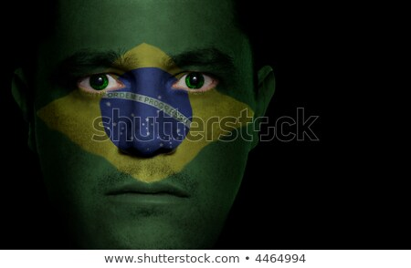 Human eye in colors of Brazilian flag. Stock photo © stevanovicigor