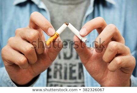 sigaret · geïsoleerd · witte · dood · drugs · roken - stockfoto © juniart