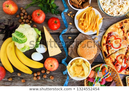 Dieta salute gruppo grasso fast food Foto d'archivio © Lightsource