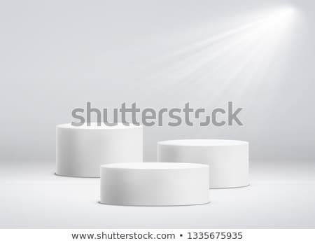stand · prodotto · 3D · cilindro · bianco · riflessione - foto d'archivio © Yuriy
