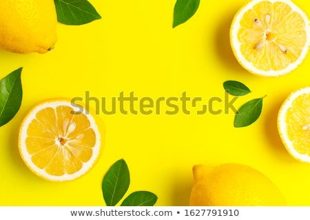 Limão citrinos isolado branco laranja Foto stock © natika