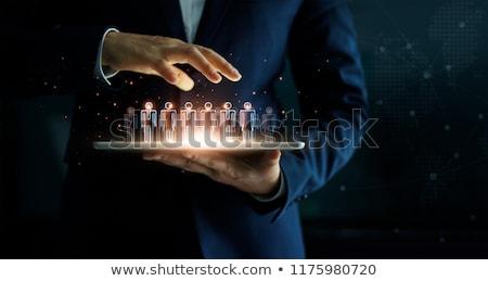 ビジネスマン · タブレット · 手 · スーツ - ストックフォト © cherezoff