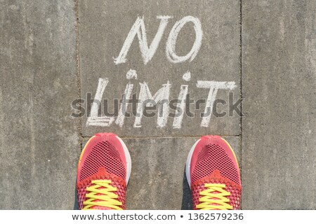 Speed Limit message reminder on asphalt road Stock photo © stevanovicigor