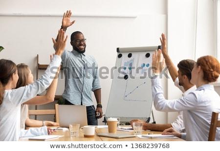 Photo stock: équipe · travail · d'équipe · bois · cas · pouvoir