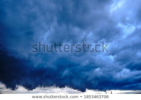 Drámai szélesvásznú viharos naplemente panorámakép part Stock fotó © backyardproductions