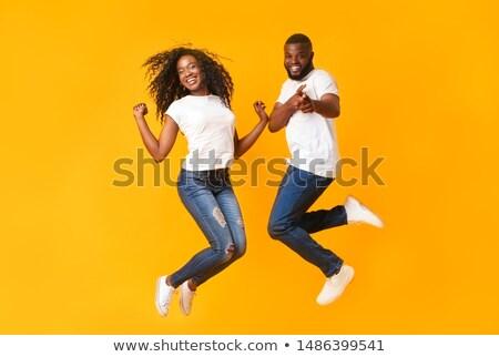 Afrika · genç · dans · mutlu · siyah · arka · plan - stok fotoğraf © jeffbanke