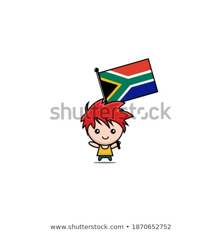 small 3d man holding an Afghanistan Flag Stock photo © Istanbul2009
