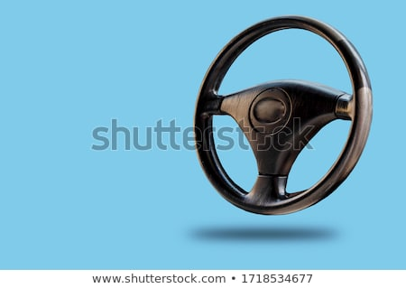chromed steering wheel stock photo © nelsonart