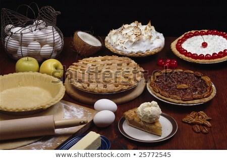 wiśni · organiczny · drewniany · stół · kopia · przestrzeń · tle - zdjęcia stock © tab62