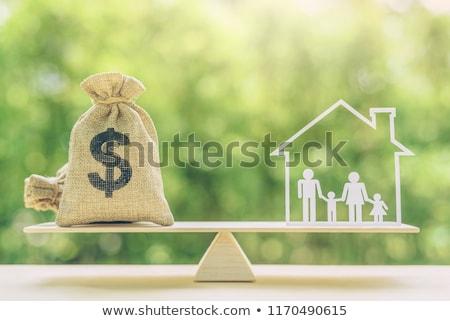 Escala renda negócio branco azul traçar Foto stock © mayboro1964