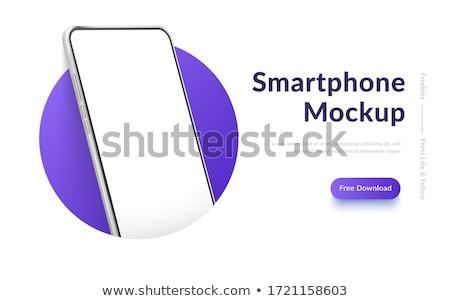 Vektor 3D Telefon Symbol grünen schwarz Stock foto © nickylarson974