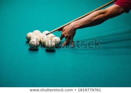 Közelkép lövés snooker játékos játszik kéz Stock fotó © bmonteny