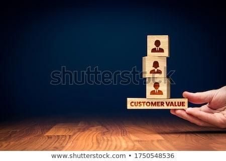 Klienta wartość grupy słowa działalności sukces Zdjęcia stock © OutStyle