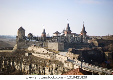 Corridor in the Old Fortress in the Ancient City of Kamyanets-Podilsky Stock photo © maxpro