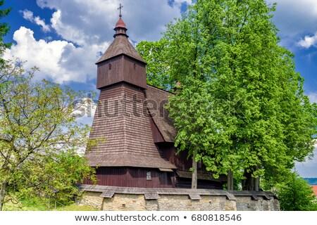 Houten kerk Slowakije architectuur Europa geschiedenis Stockfoto © phbcz