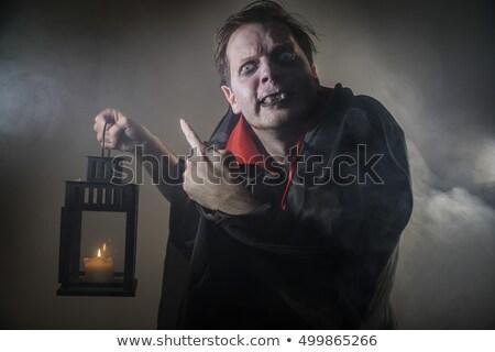 Dracula illustratie partij maan nacht leuk Stockfoto © adrenalina