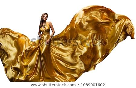 girl posing in gold dress stock photo © neonshot
