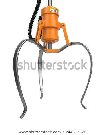 Ouvrir métal robotique griffe jaune couleur Photo stock © tashatuvango