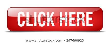 Kliknij tutaj czerwony wektora ikona przycisk Internetu Zdjęcia stock © rizwanali3d