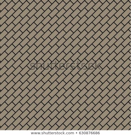 Brown-Gray Square Brick Pavers. Seamless Texture. Stock photo © tashatuvango