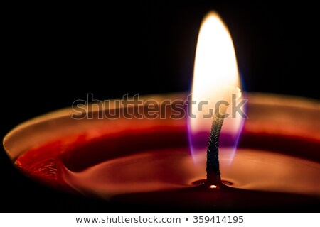 Closeup of a Candle Wick Burning Stock photo © aetb