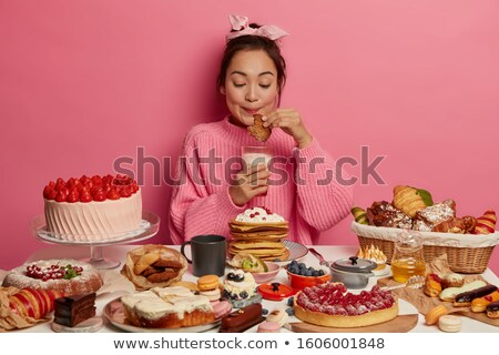 milk and croissant cookies stock photo © zhekos