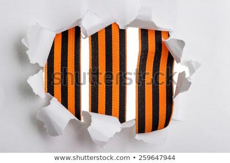 シート · 引き裂かれた紙 · 黒 · 紙 · 抽象的な · 壊れた - ストックフォト © valeriy