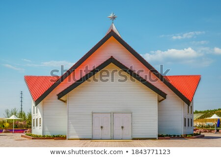 Bell Tower of Country Church under Blue Skies Stock photo © hpbfotos