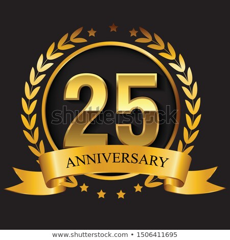 ... background with 3D silver text for 25th wedding anniversary party