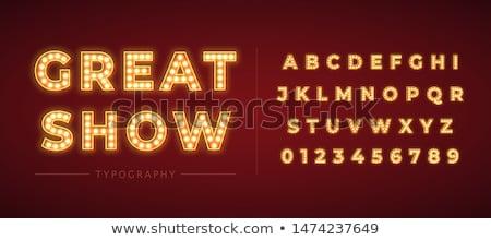 Retro cinema font Stock photo © m_pavlov