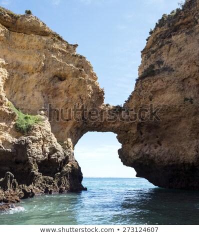 kayalar · deniz · plaj · Portekiz · gökyüzü · su - stok fotoğraf © compuinfoto