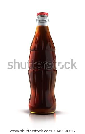 üveg üveg kóla üdítő izolált fehér Stock fotó © tetkoren