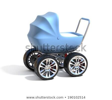 Carrozzina 3D icona illustrazione bianco internet Foto d'archivio © nickylarson974