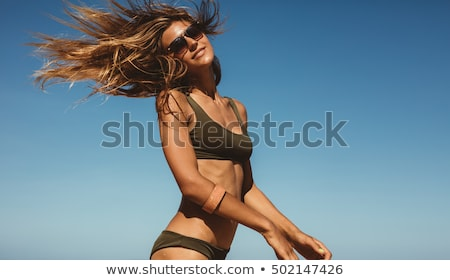 pin · para · cima · verão · menina · sexy · girl · mulheres - foto stock © aleksangel