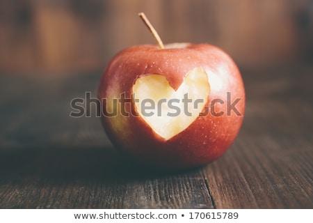 Gezonde fruit hart gezond eten voedsel symbool Stockfoto © Fisher