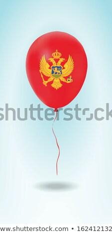 Vliegen ballonnen vlag Montenegro geïsoleerd witte Stockfoto © MikhailMishchenko