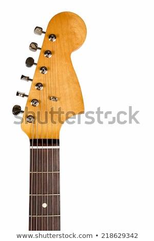 Classical Guitar Headstock Closeup Stock photo © make
