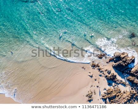 書かれた 砂 ビーチ 人気のある 観光 先 ストックフォト © jeayesy