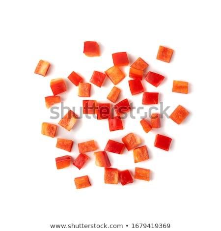 Kesmek kırmızı biber sebze sıcak Stok fotoğraf © Fotografiche
