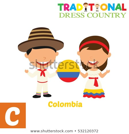 Colombia flag on shirt Stock photo © fuzzbones0