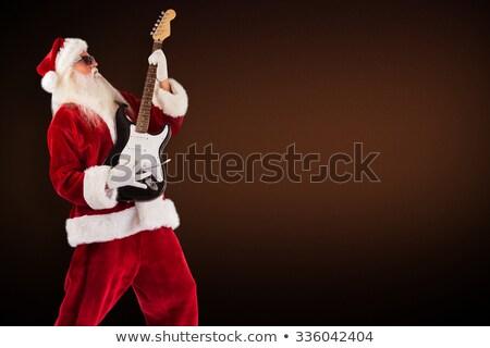 черный · электрической · гитаре · изолированный · белый · древесины · моста - Сток-фото © wavebreak_media